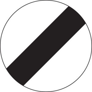 national speed limit sign